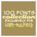 100 Fonts for Icons and Avatars