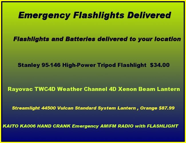 emergency flashlights                               click here